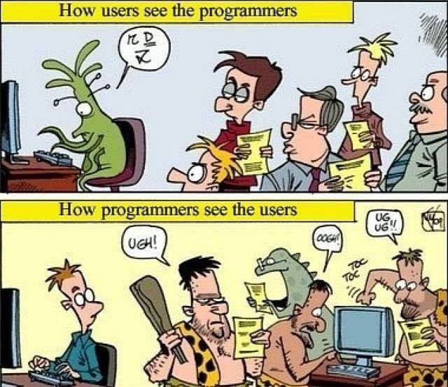 How users see the programmers and vice versa