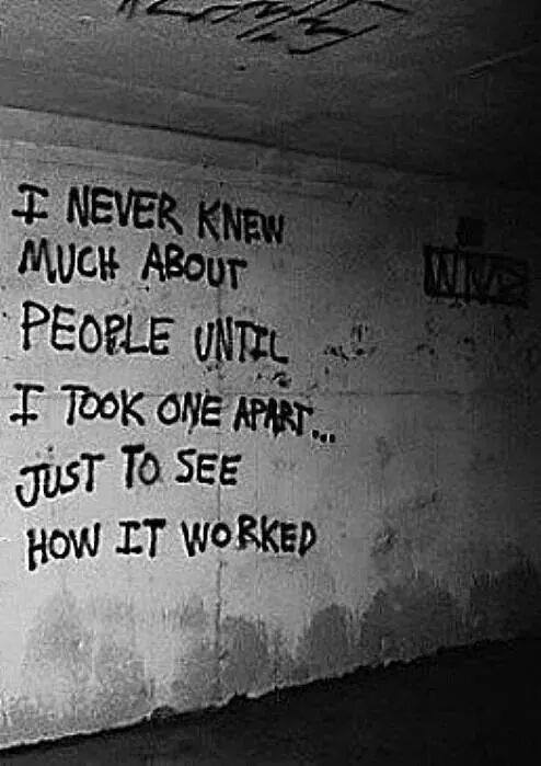I never knew much about people until…