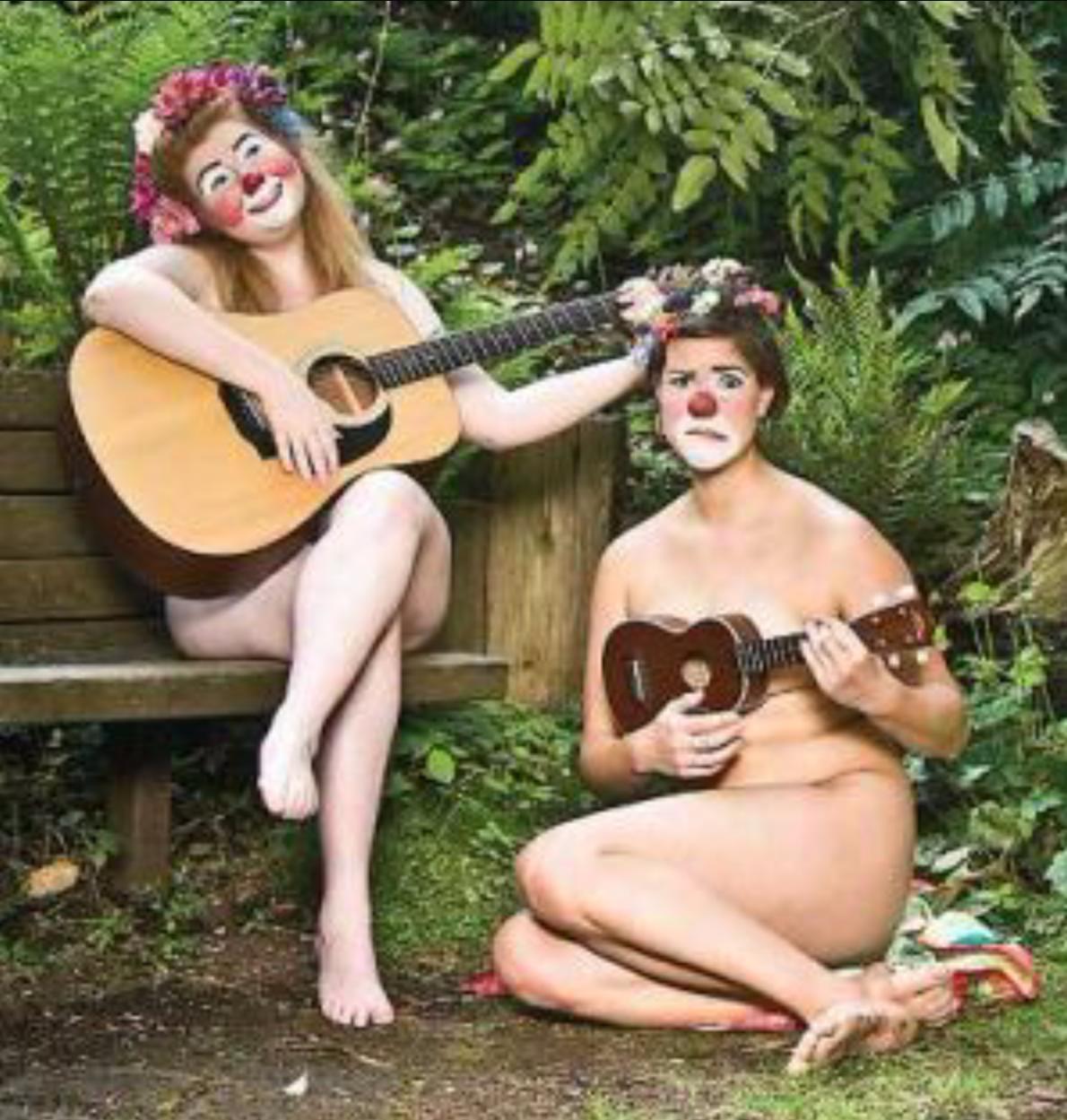 Naked clown calendar – August