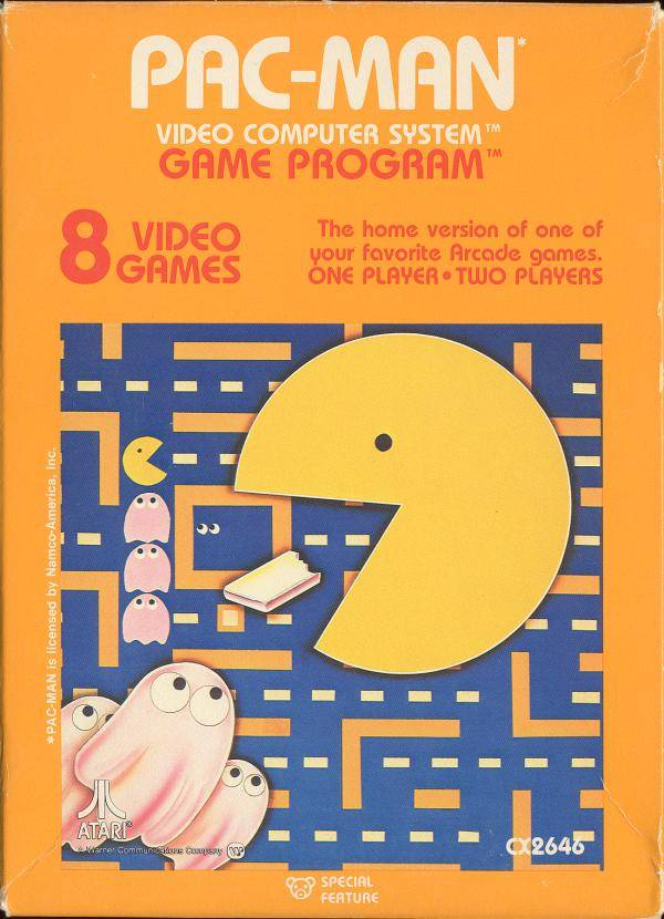 Pac-man old school video game cover