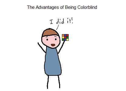 The advantages of being colorblind