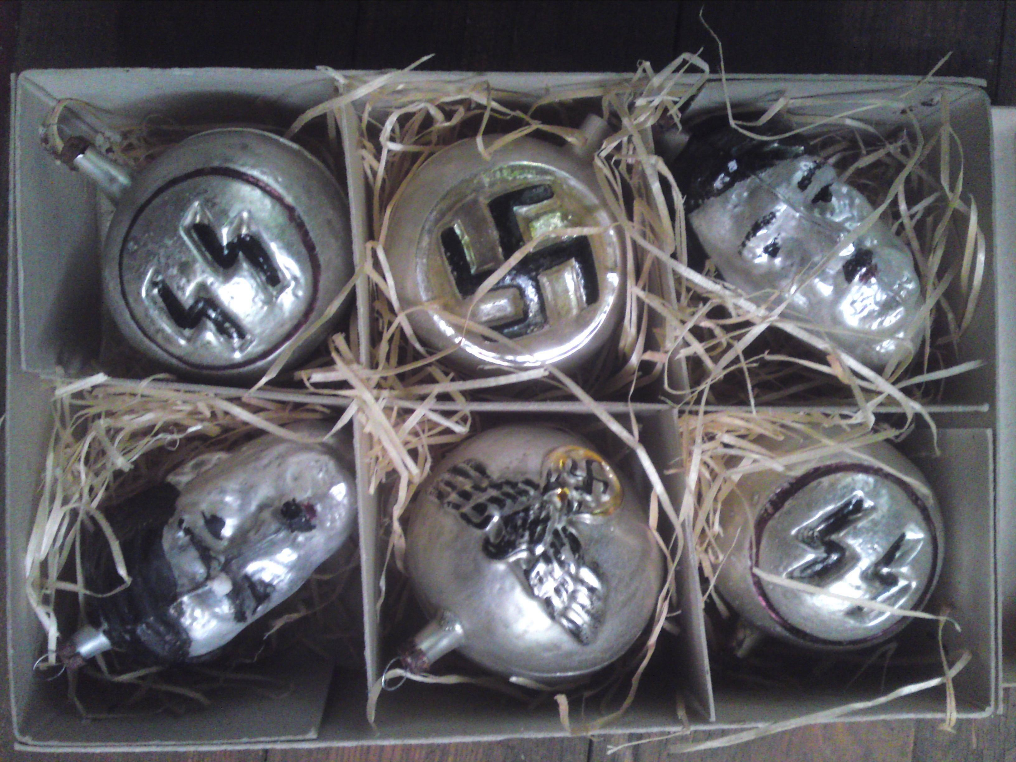 WWII XMas tree ornaments