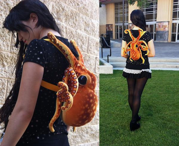Adorable Plush Octopus Backpack Gives Tentacled Hugs