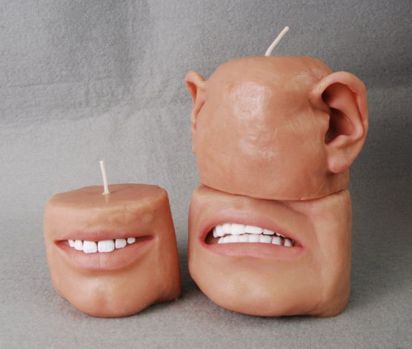Creepy body part candles