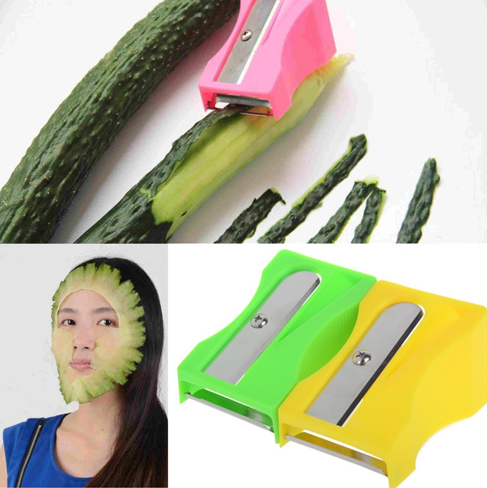 Cucumber peeler for easy applicable face mask