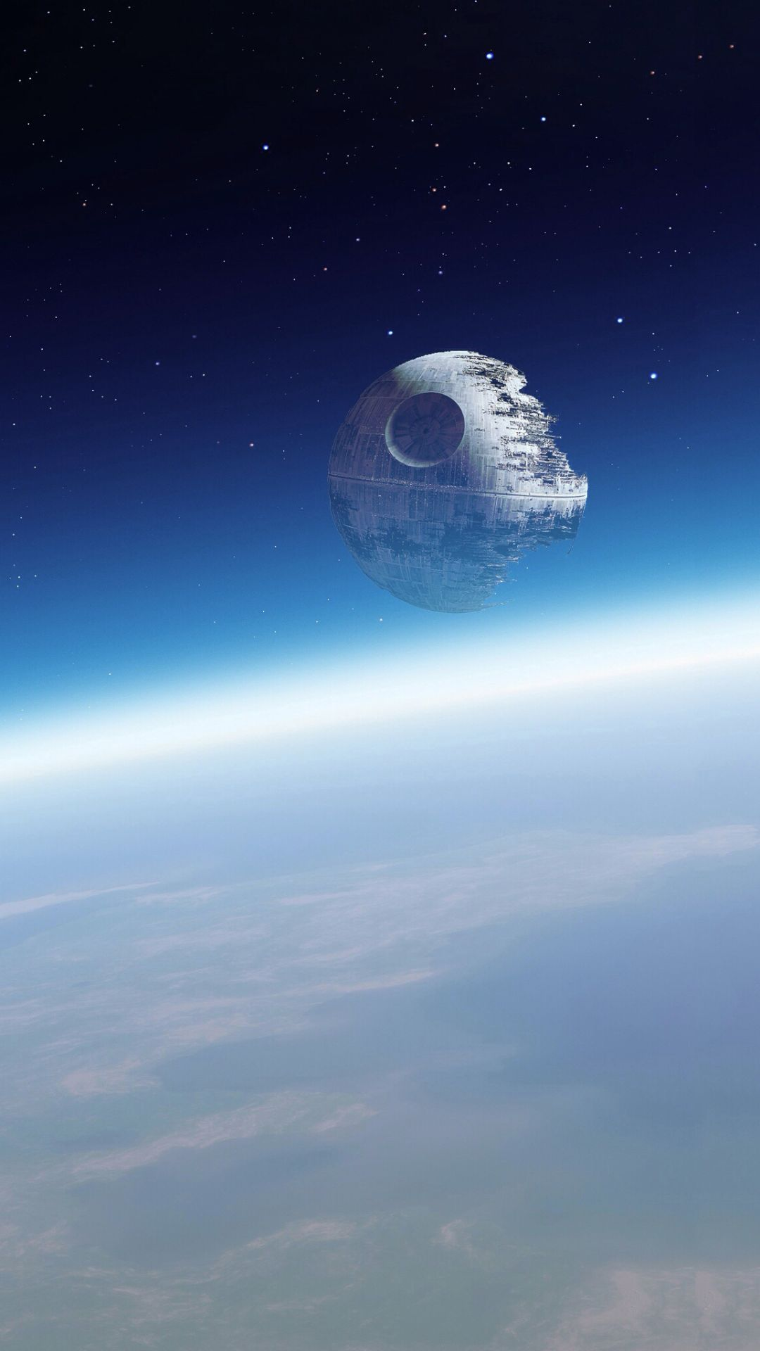 Death Star in orbit