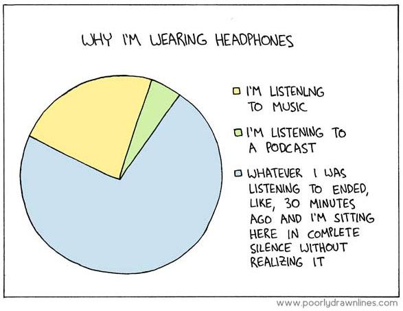 Why I'm wearing headphones