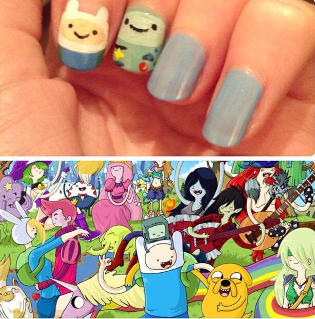 Adventure time manicure