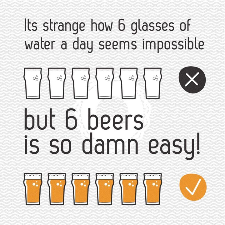 It's strange how 6 glasses of water a day seems impossible…