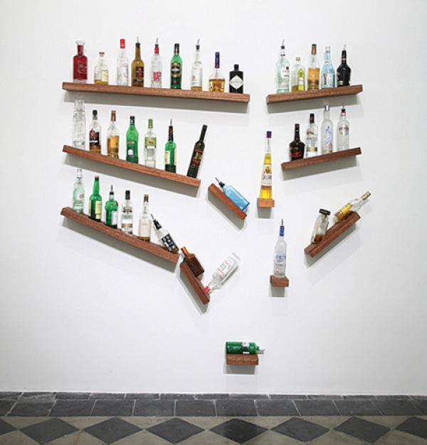 Home bar shelf system