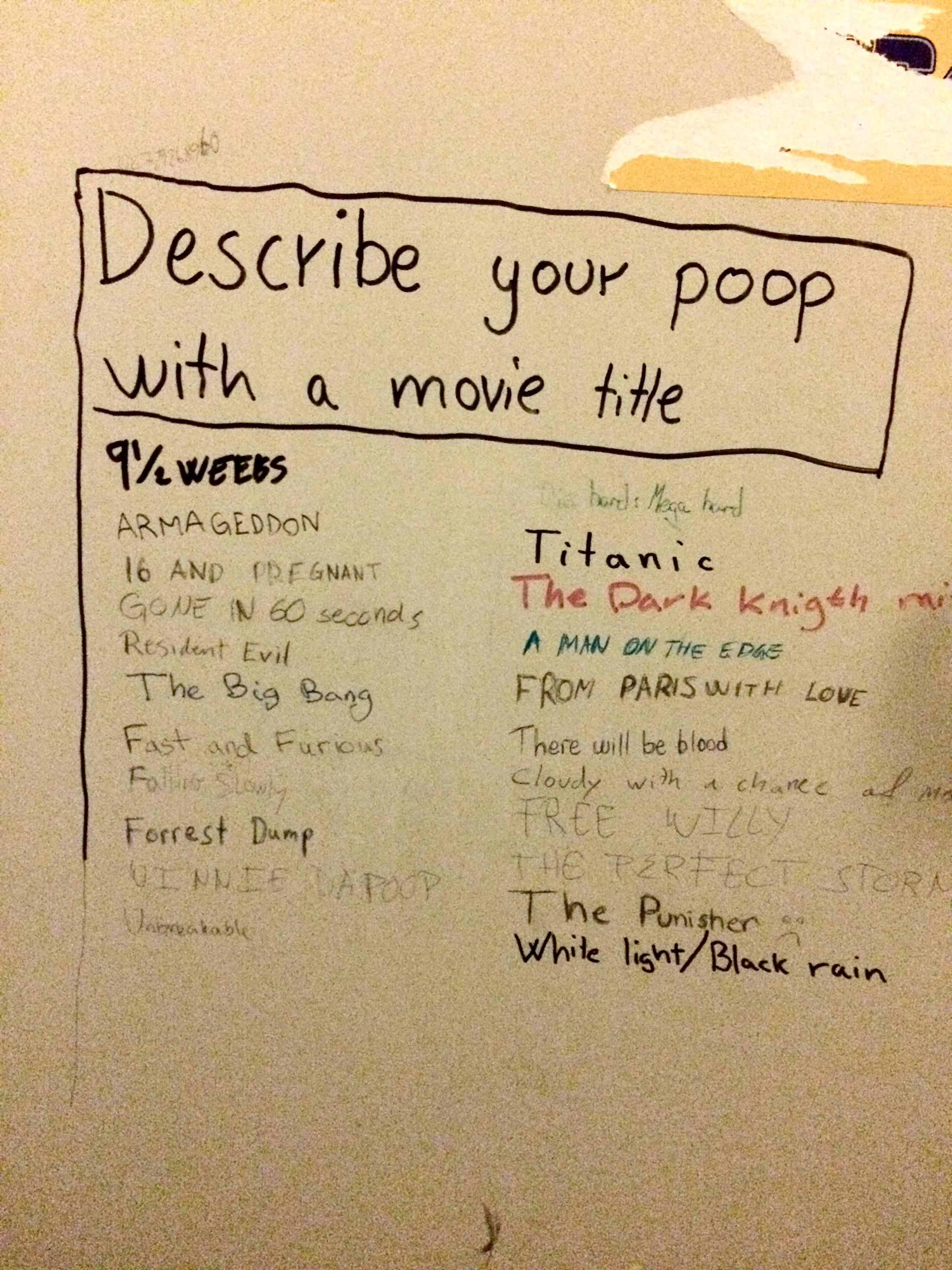 describe your poop a movie title t3hwin com describe your poop a movie title