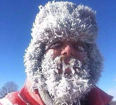 Frozen ice face
