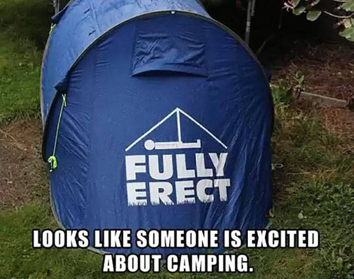 Fully Erect camping tent