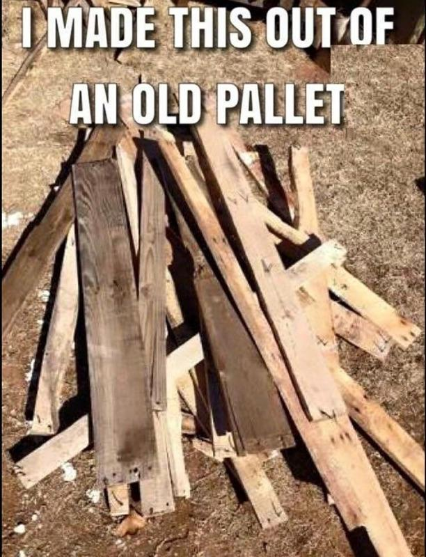 I made this out of an old pallet…