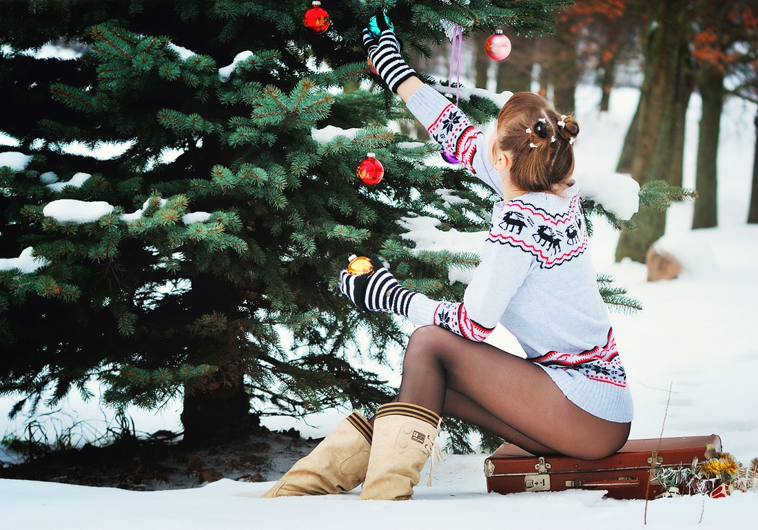 Sexy christmas legs