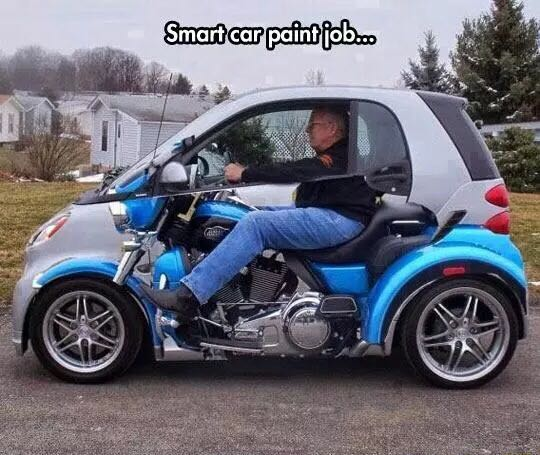Smart car paint job.