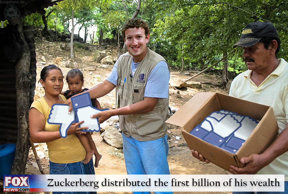 Zuckerberg distributed the first billion of his wealth