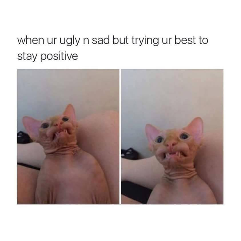 When you are ugly and sad