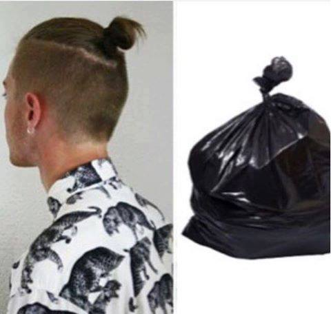 Man Bun hairstyle reminds me of…