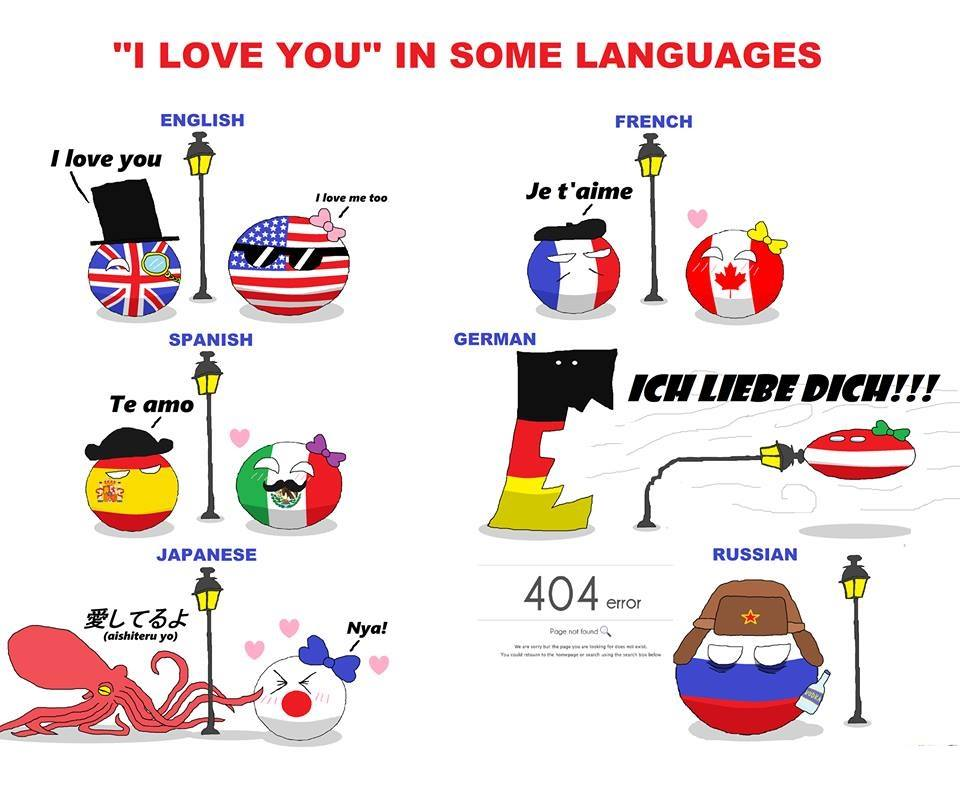"""I love you"" in some languages"