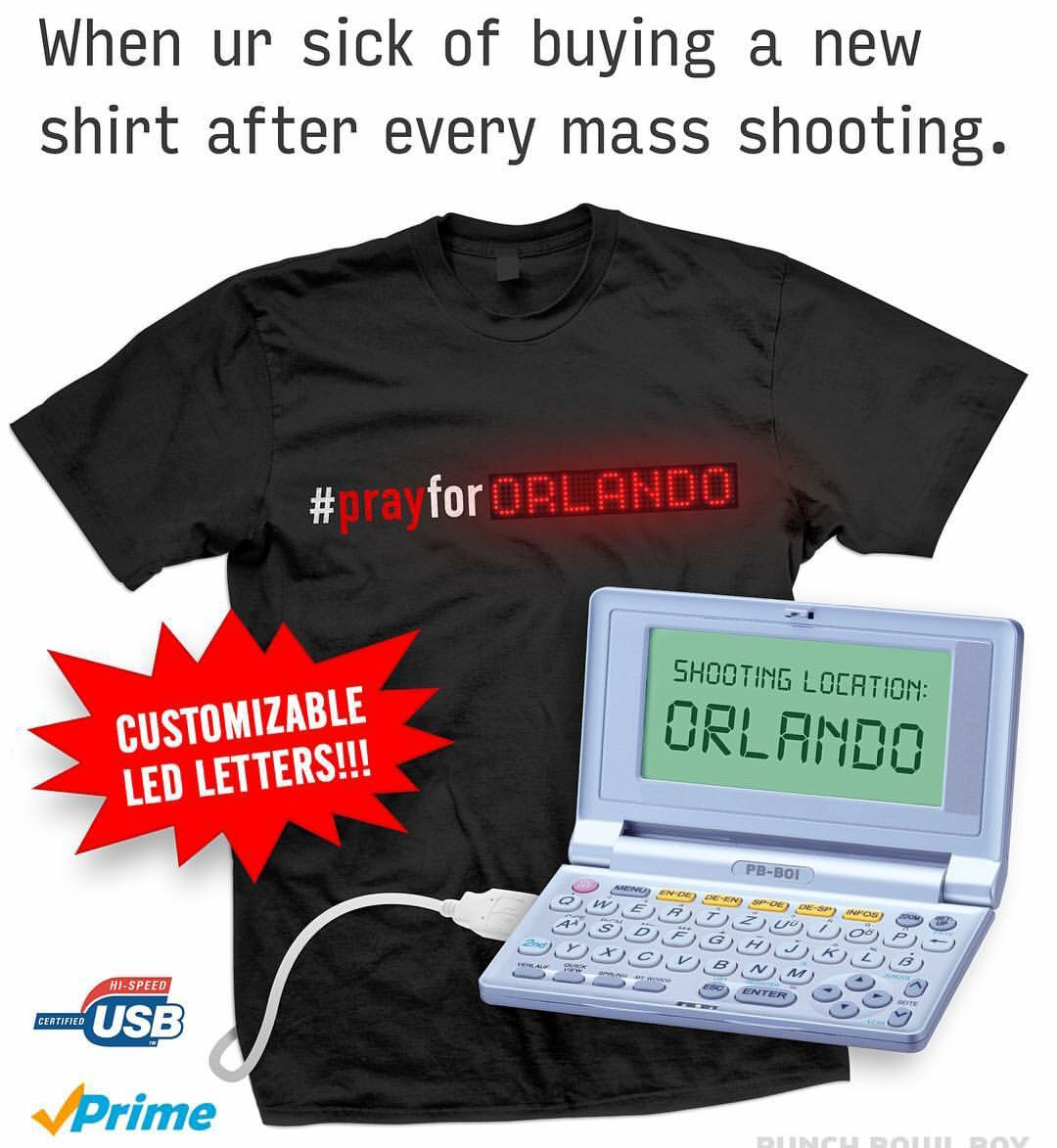 When ur sick of buying a new shirt after every mass shooting