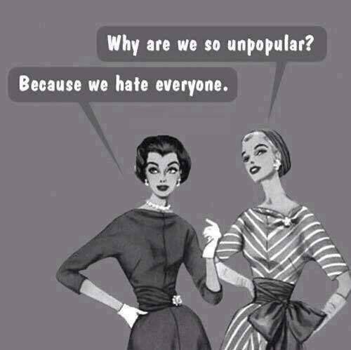 Why are we so unpopular?