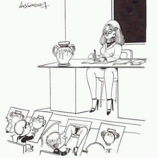Art class in school.