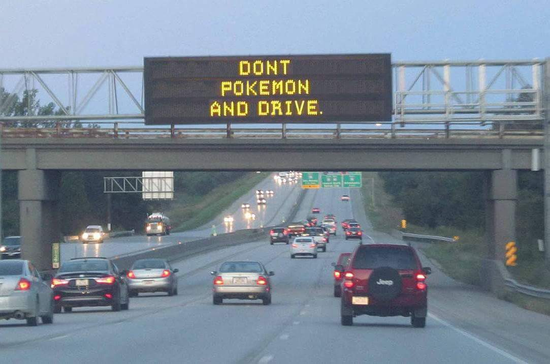 Don't Pokémon and drive.