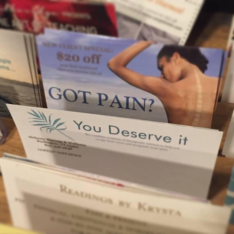 Got pain? You deserve it.