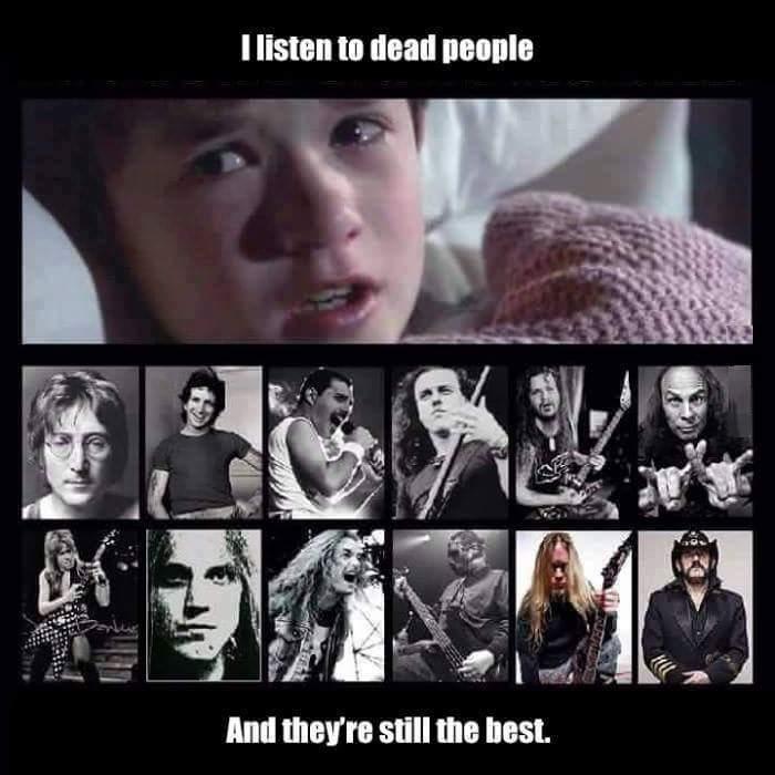 I listen to dead people