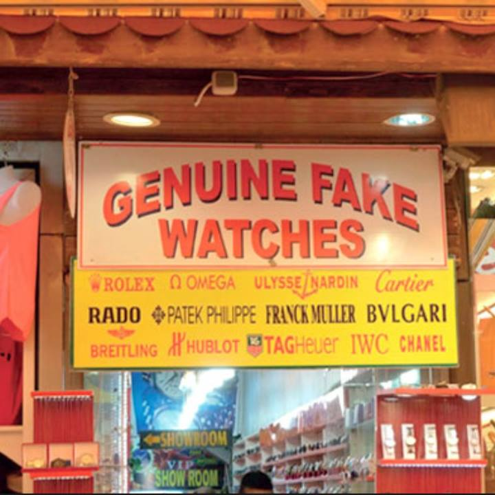 Brilliant advertising for genuine fake watches…