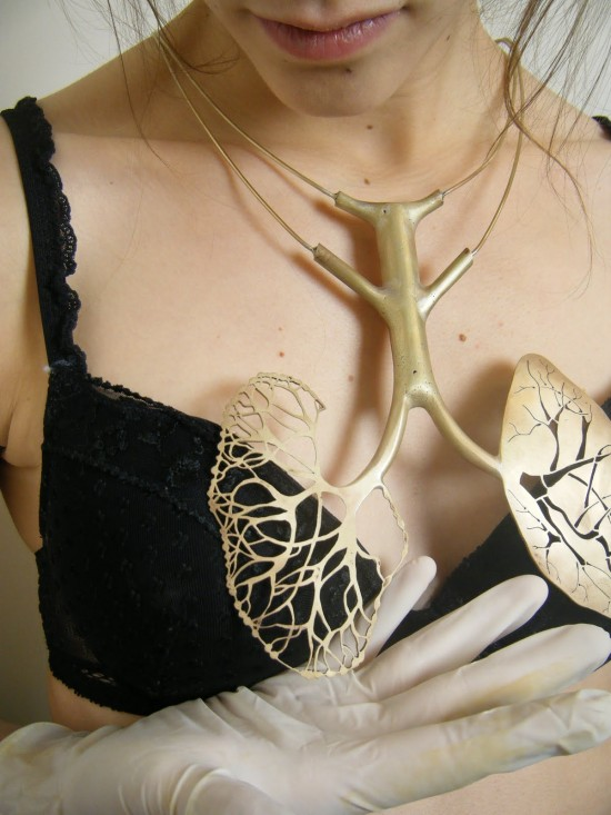 Lungs necklace.