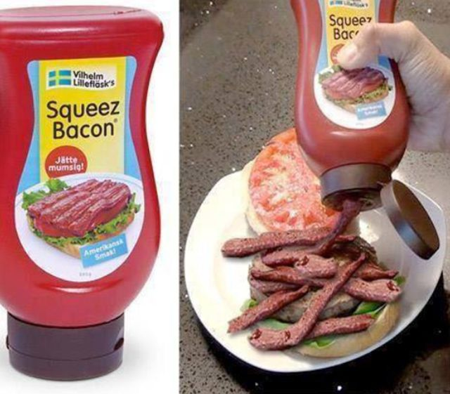 No more cooking! Just squeeze the bacon out!