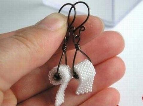 Toilet paper roll earrings.