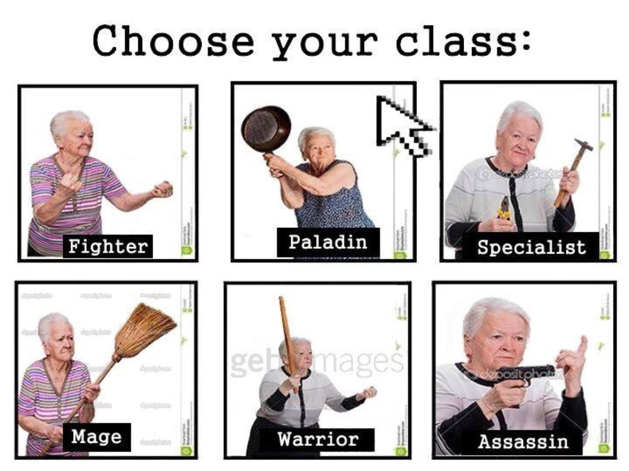 Choose your class!