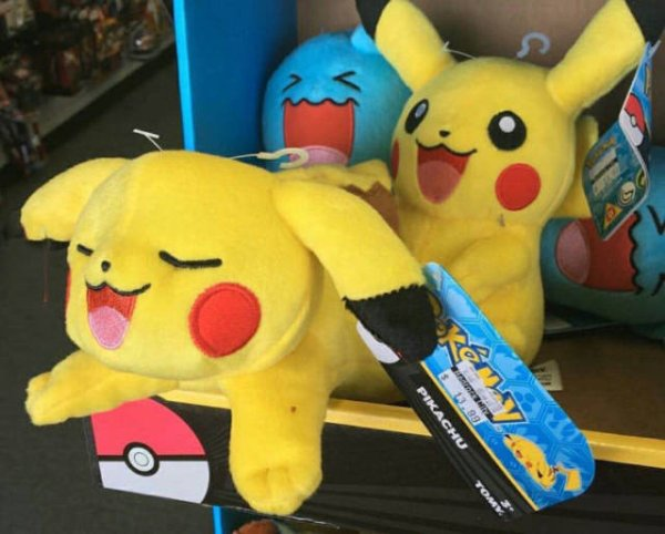 Pikachu and friends are having fun