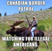 Canadian border patrol watching for illegal Americans