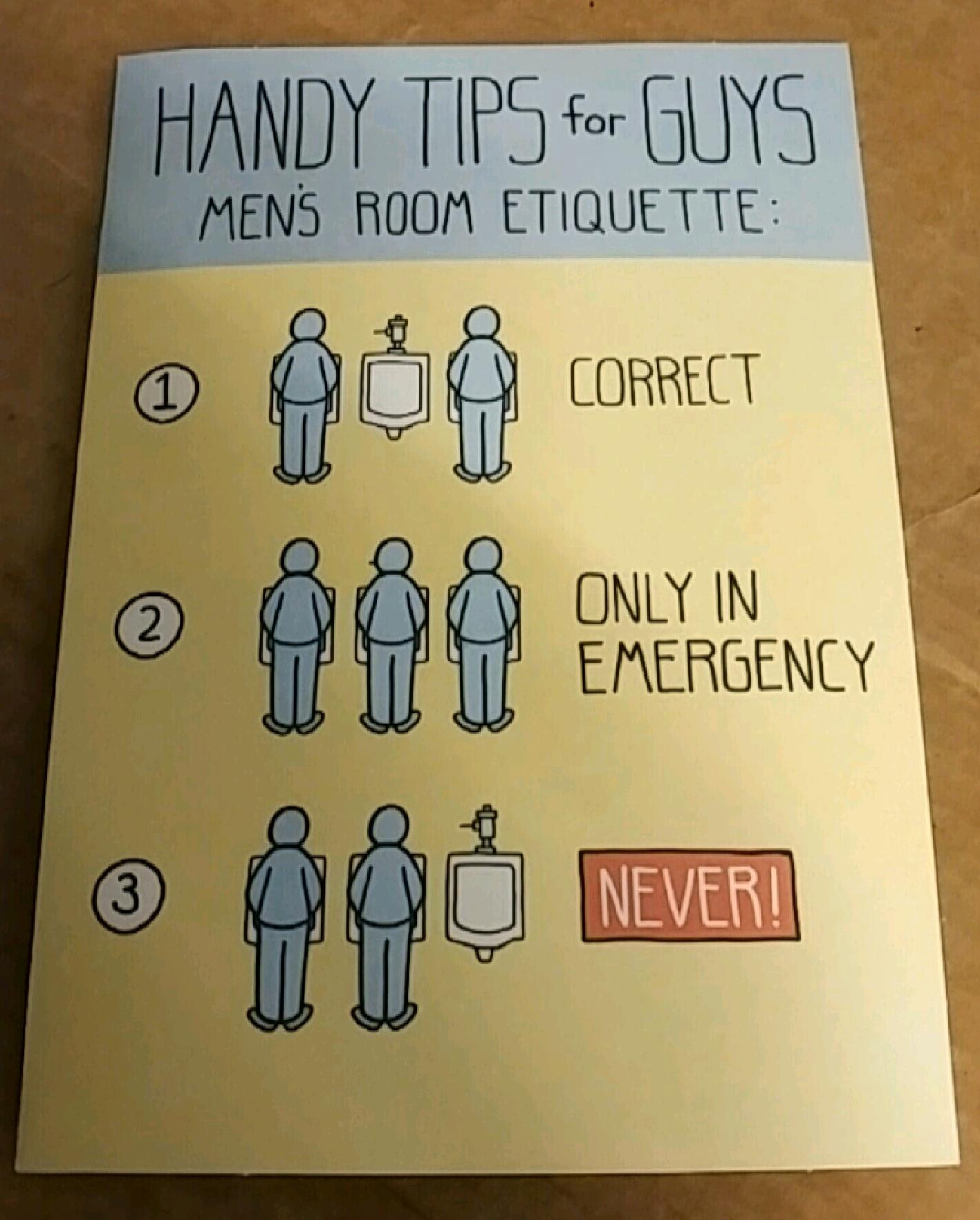 Handy tips for guys