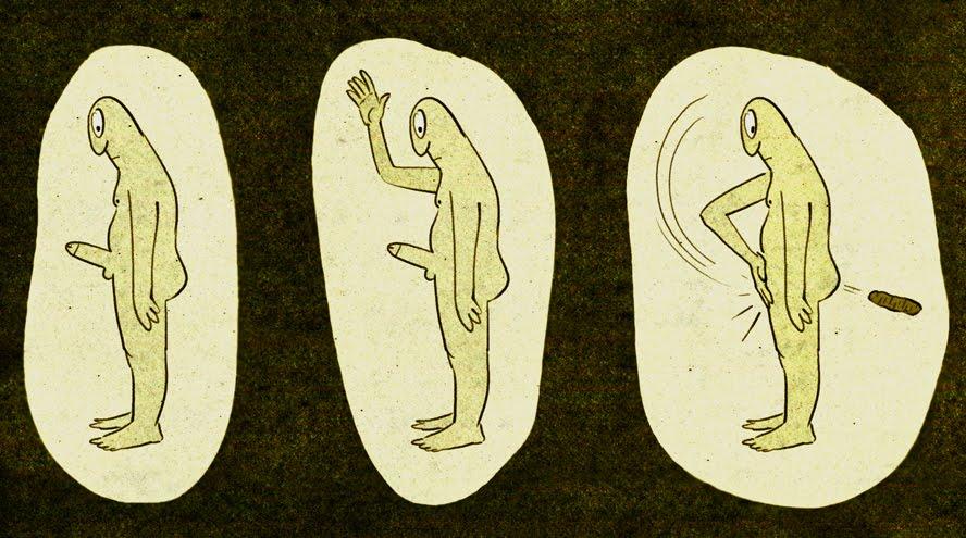 Ladies, this is how guys poop.