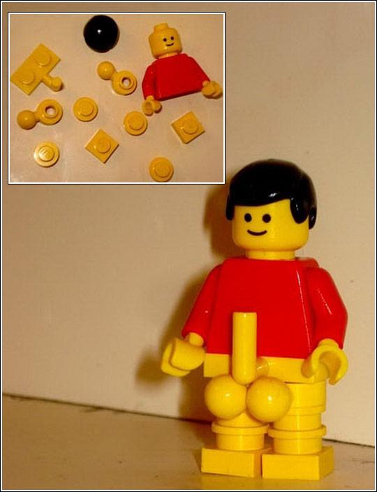 Ron Jeremy in Lego (DIY)