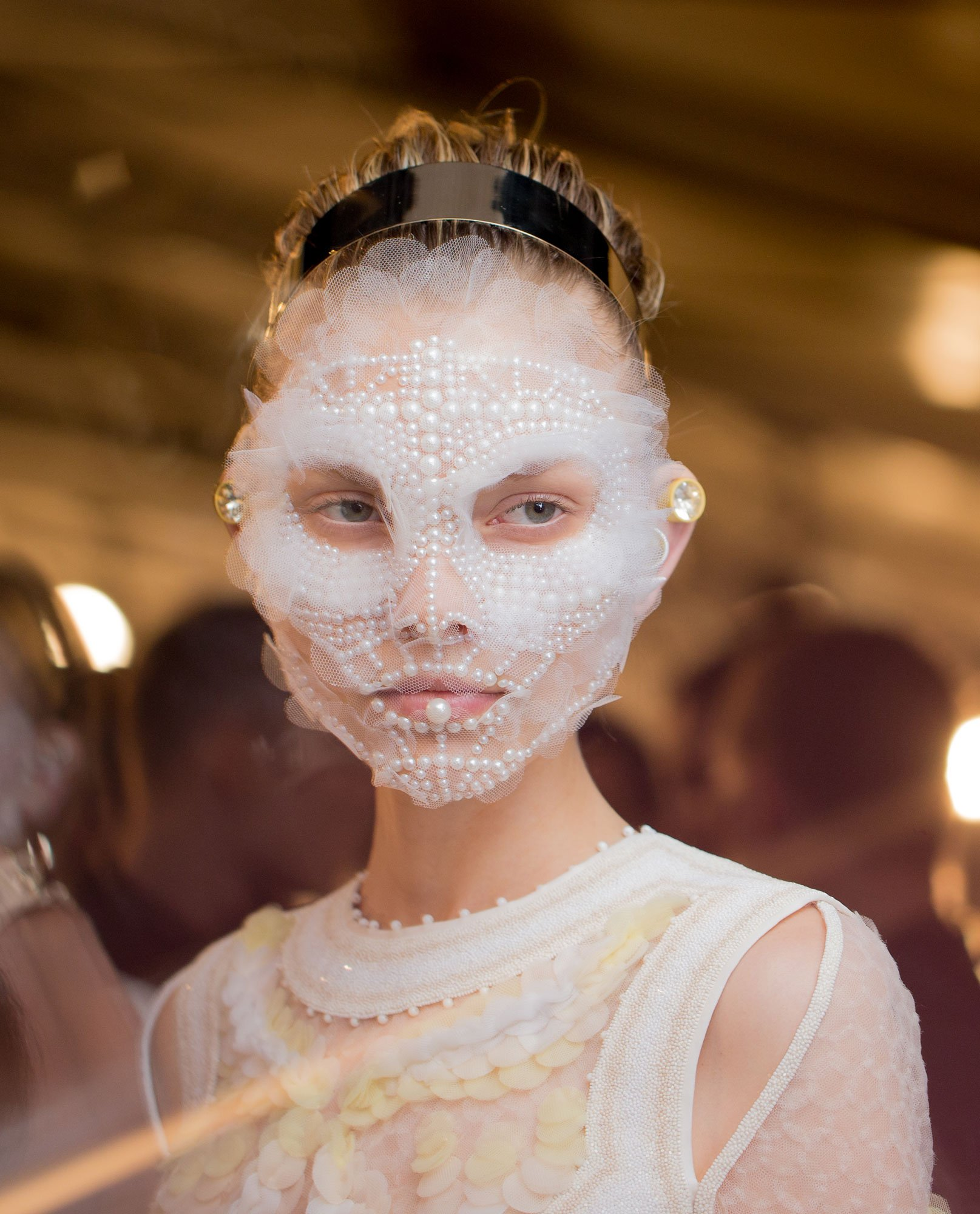 Sexy pearl face mask
