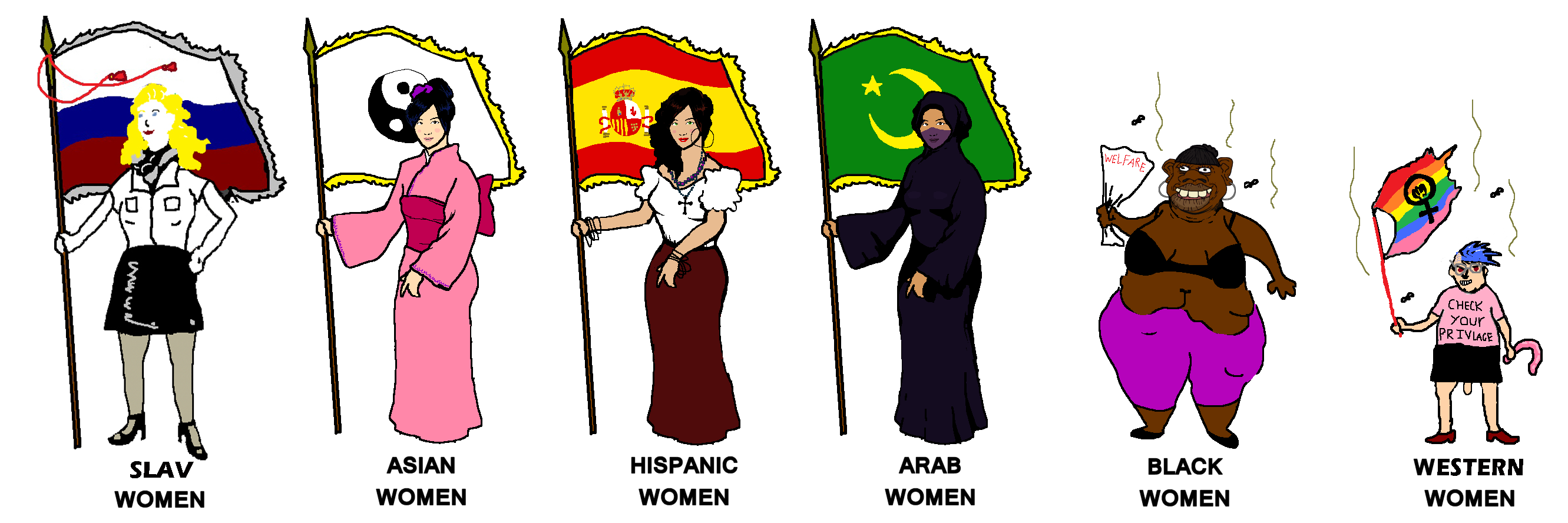 Women with flags