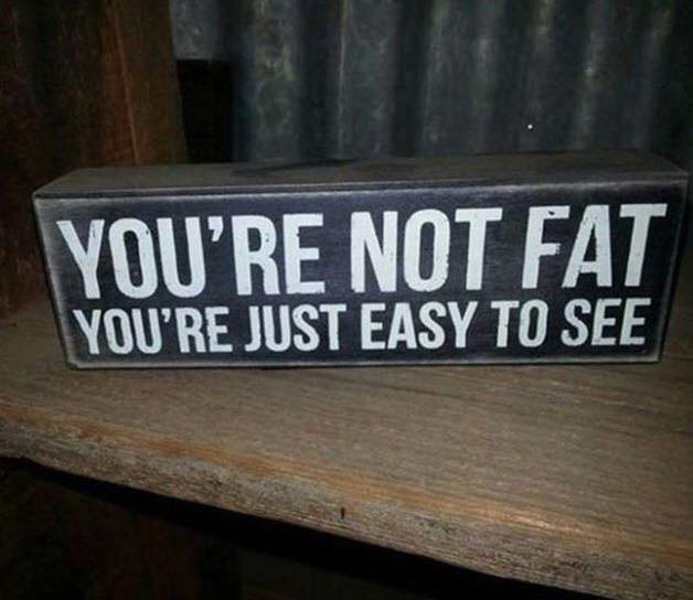 You're not fat. You're just easy to see.
