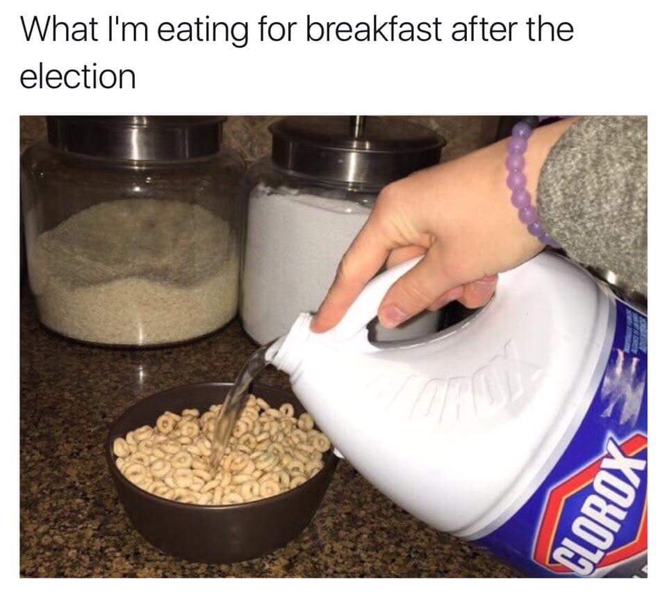 What I'm eating for breakfast after the USA presidential election