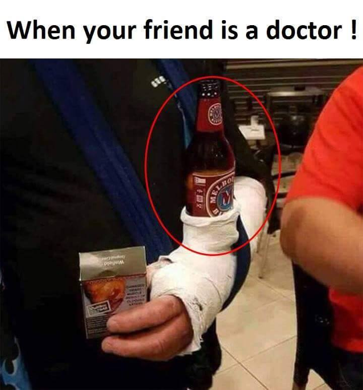 When your friend is a doctor!