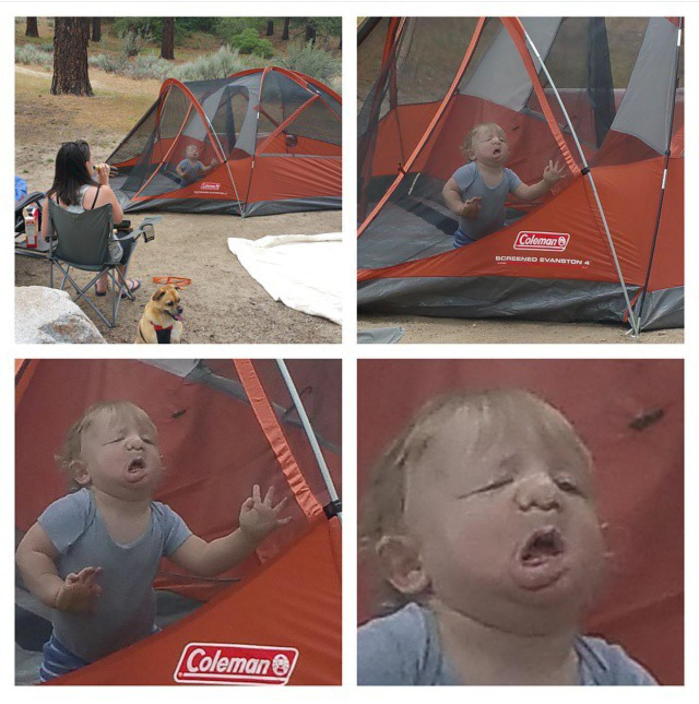 My kid had a blast camping for the first time.