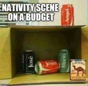 Nativity scene on a budget