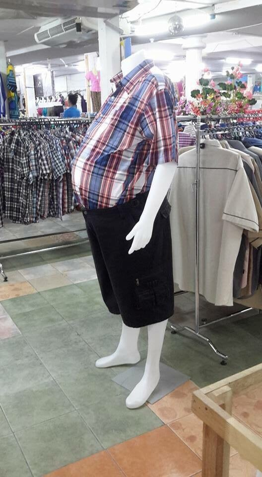 Finally making realistic mannequins in the men's department
