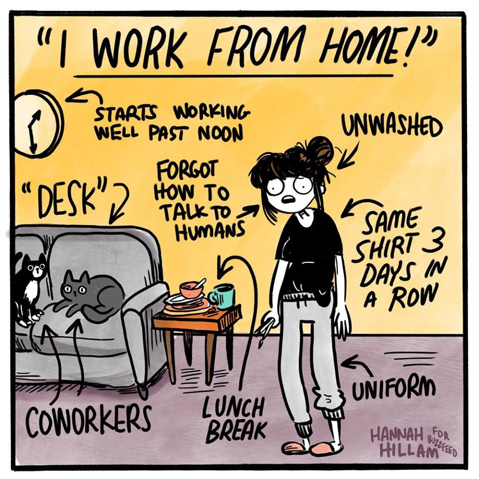 I work from home