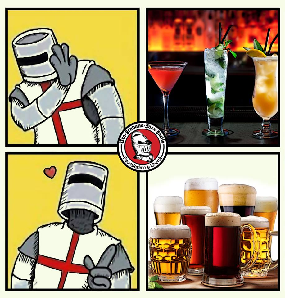 Knight's Right Attitude for Beer